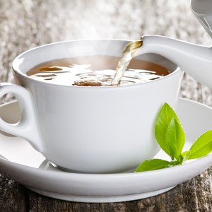 Boil the water, let it cool to roughly 60°C. Then pour it over the tea and let steep for 3 minutes.